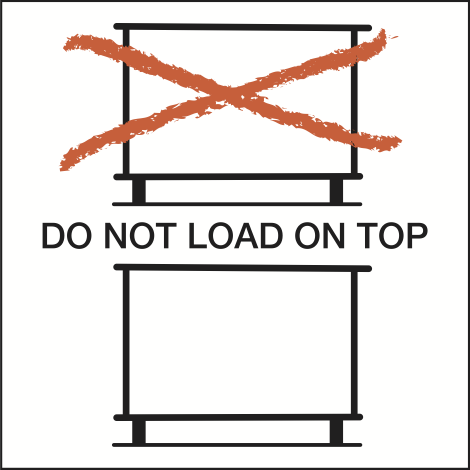 DO NOT LOAD ON TOP (1.000 ex./rol)